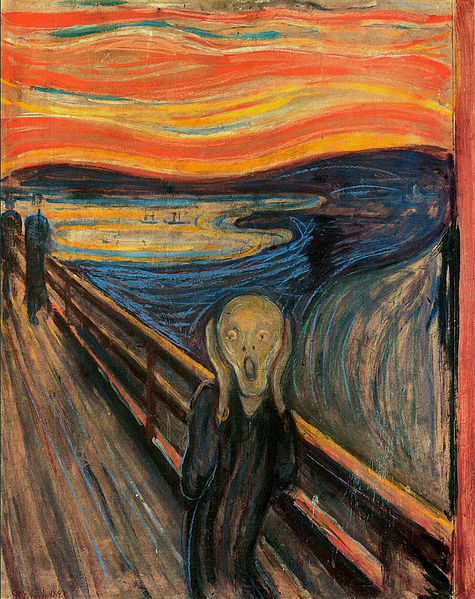 how to deal with existential fear - The Scream painted by Edvard Munch