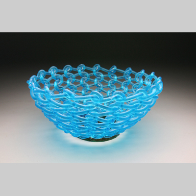 Eddy by Carol Milne - Kiln-Cast lead crystal knitted glass